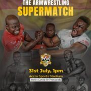 """Asoka GH and Bukom Vampire faces fierce battles in the """"The Armwrestling Supermatch"""" on Saturday"""